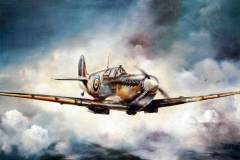 Aviation_artist_JLPC_Baragwanath_Alan_Hindle_painting_Supermarine_Spitfire