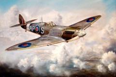 Aviation_artist_JLPC_Baragwanath_Alan_Hindle_painting_Supermarine_Spitfire_02