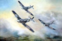 Aviation_artist_JLPC_Baragwanath_Alan_Hindle_painting_Supermarine_Spitfire_Formation-02