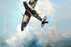 Aviation_artist_JLPC_Baragwanath_Alan_Hindle_painting_Supermarine_Spitfire_JU-H