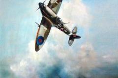 Aviation_artist_JLPC_Baragwanath_Alan_Hindle_painting_Supermarine_Spitfire_JU-H
