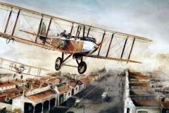 Aviation_artist_JLPC_Baragwanath_Alan_Hindle_painting_de_Havilland_DH9